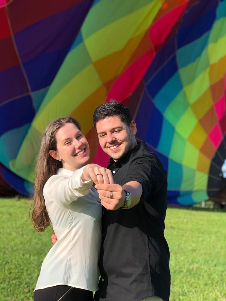 voo de balão casal